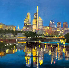 Philly Night Reflections  24 x 30