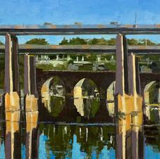River Bridges  12 x 16