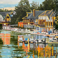 Putting the Boats to bed 24x30