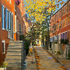 Revisiting Uber Street  30x24   SOLD