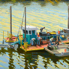 Dredger on the Schuylkill 24x30