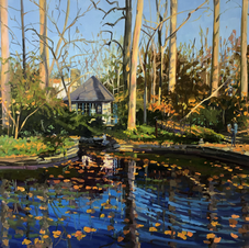 Pond at the Barnes  36x36
