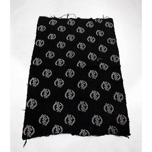 Black & White Gye Nyame Mudcloth   African Bògòlanfini Bambara