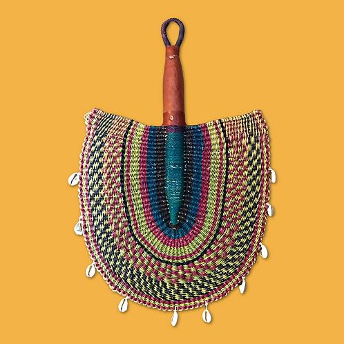 Burkina Faso Cowrie Hand woven Fan