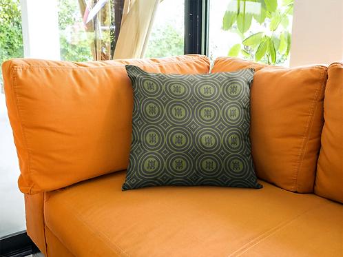 Denkyem | Square Pillow Case | Green