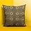 Thumbnail: Denkyem Throw Pillow Print Black & Mustard   Spun Polyester Square Pillow