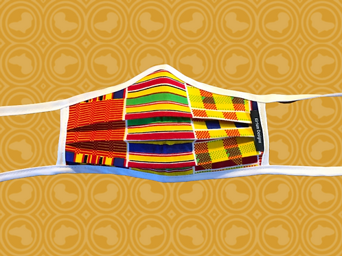 Child Face Mask with Filter | Kente African Print Cloth