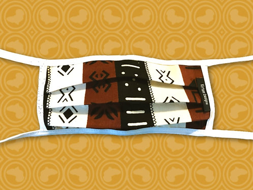 Child Face Mask with Filter | Mudcloth African Print Cloth