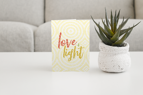 Love & Light | Blank Greeting Card