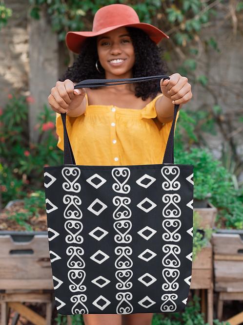 Sankofa Adinkra Print | Durable Tote Bags