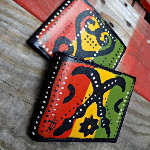 Mens Adinkra Bi-Fold Wallet