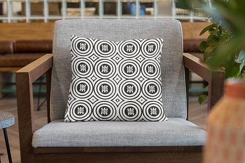 Denkyem Adinkra Throw Pillow Print White & Black | Spun Polyester Square Pillow