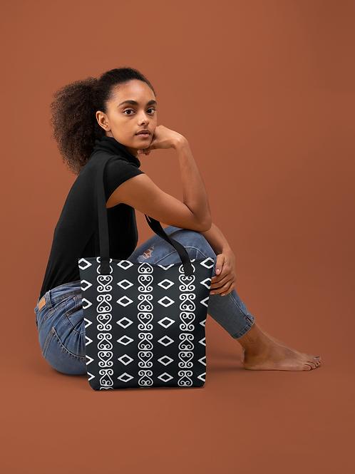 Sankofa Adinkra Print   Durable Tote Bags