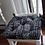 Thumbnail: Set of 4   Black Mud cloth Print Tufted Seat Cushions
