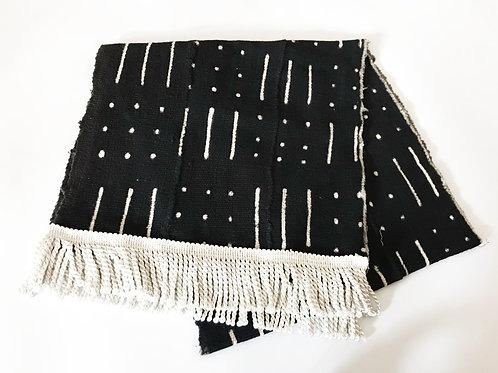 Mudcloth Tablerunner/Throw | Black & White | Spindle
