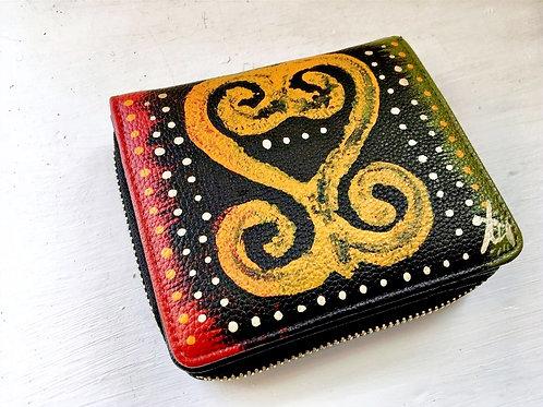 Sankofa | Adinkra Wallet with Coin Purse | Black