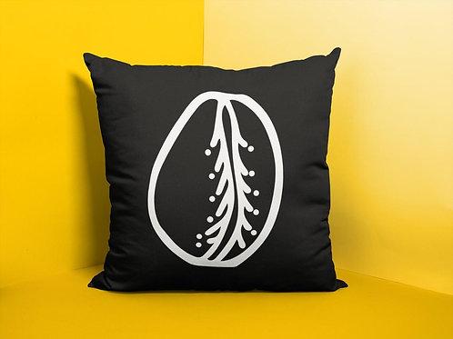Cowrie Shell Throw Pillow Print BW | Spun Polyester Square Pillow