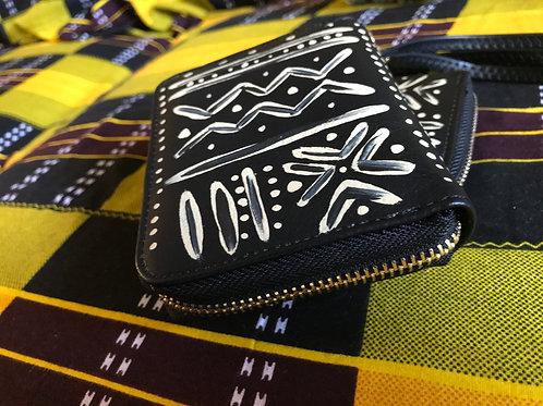 Bogolan | Zip Mini Wallet | Black