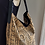 Thumbnail: Beige and black African Mudprint Hobo tote bag
