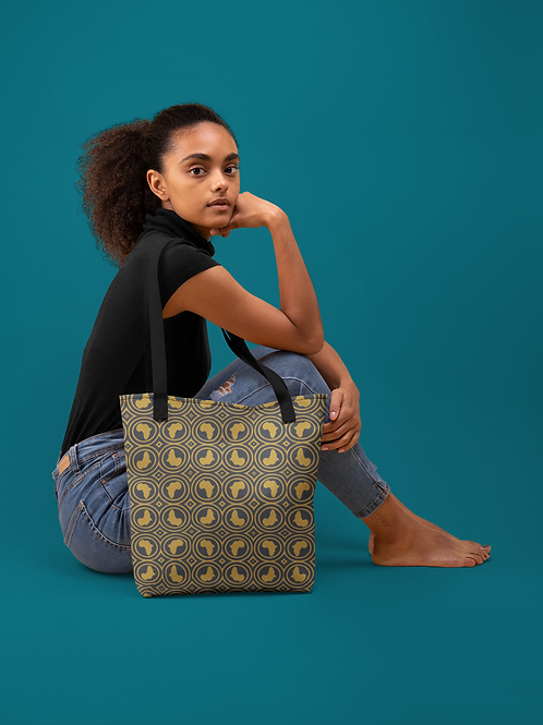 African Reflections Print   Durable Tote Bags