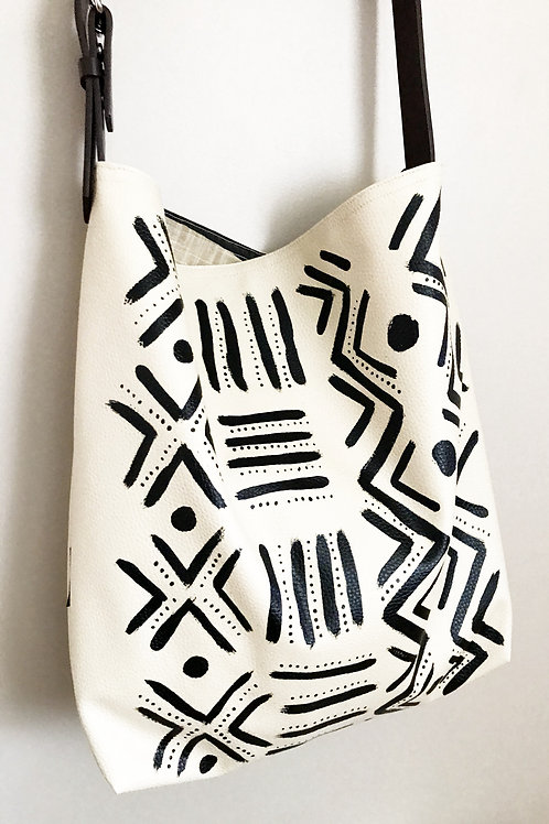 Bogolan Hobo Bag | Faux Leather