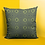 Thumbnail: Denkyem Adinkra Throw Pillow Print Green   Spun Polyester Square Pillow