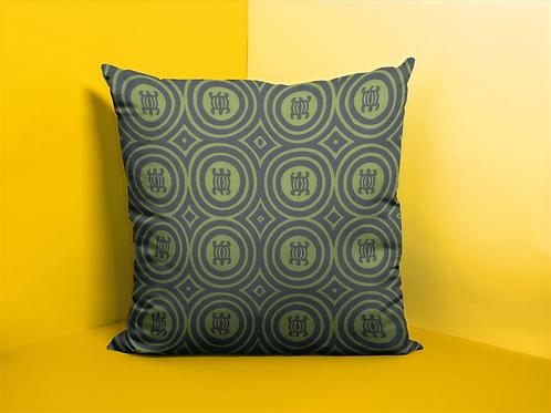 Denkyem Adinkra Throw Pillow Print Green   Spun Polyester Square Pillow