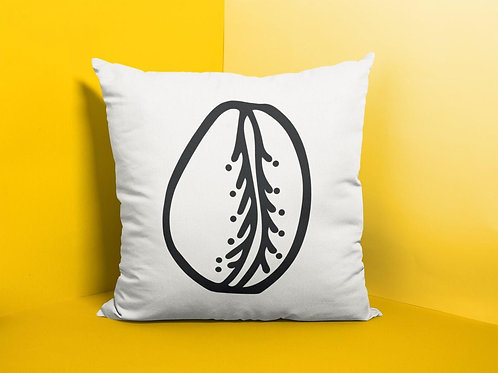 Cowrie Shell Throw Pillow Print Mali WB | Spun Polyester Square Pillow