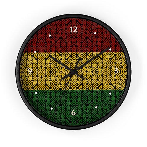Rasta Prints Wall clock