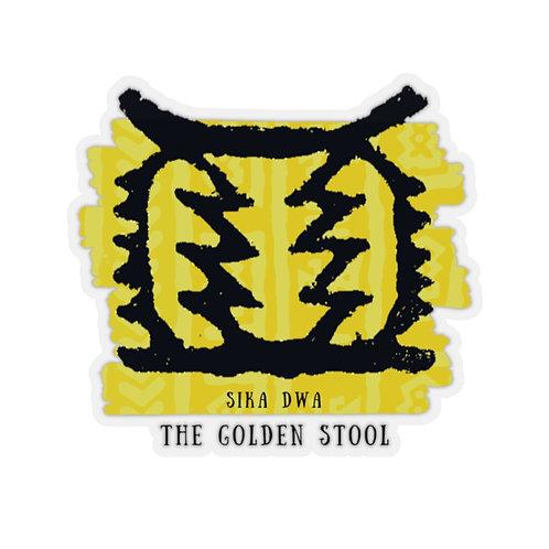 Golden Stool | Kiss-Cut Stickers
