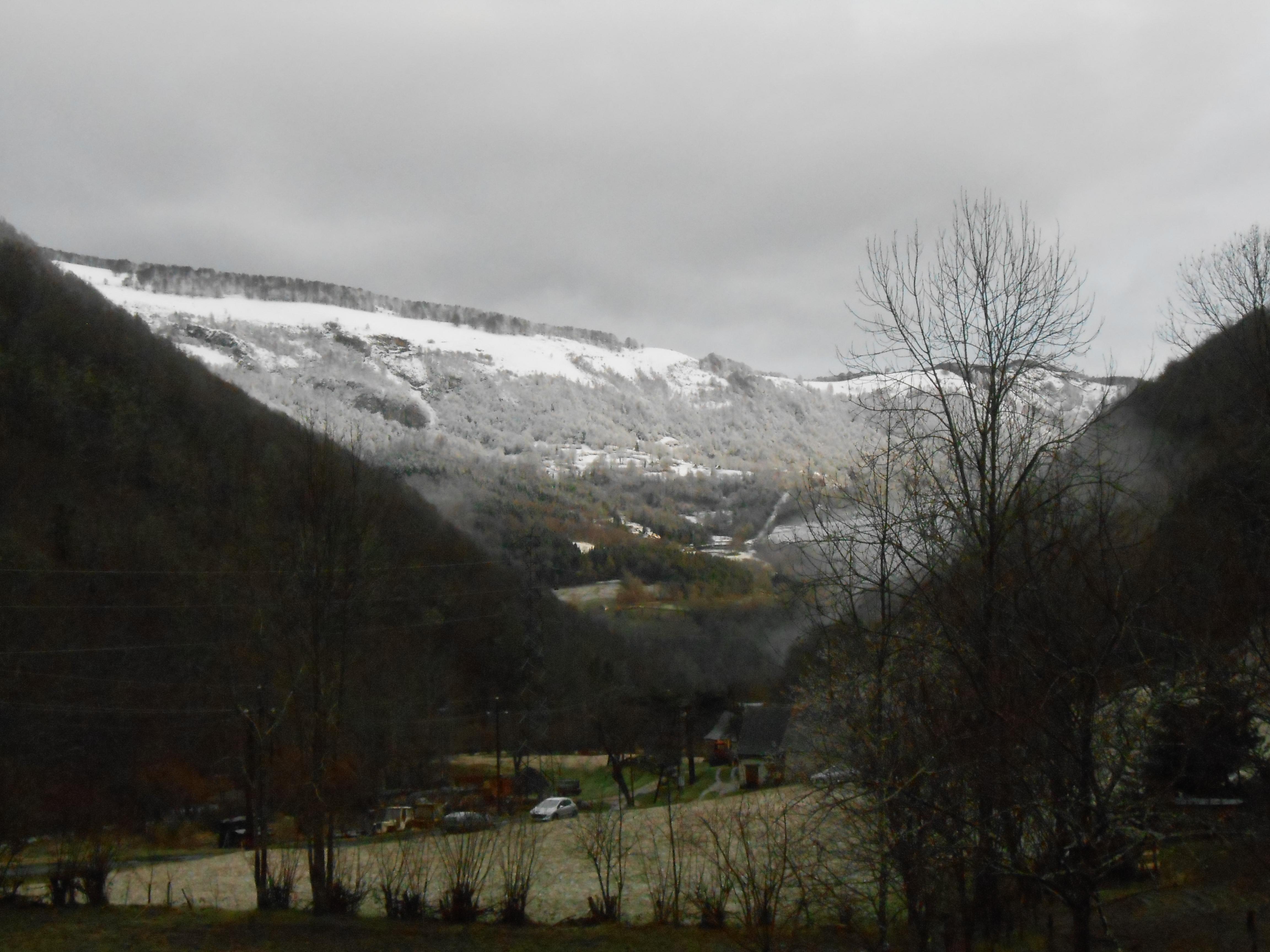 La carrière de Marbre sous la neige