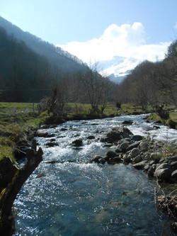 La rivière d'Orle en Ariège-Pyrénées