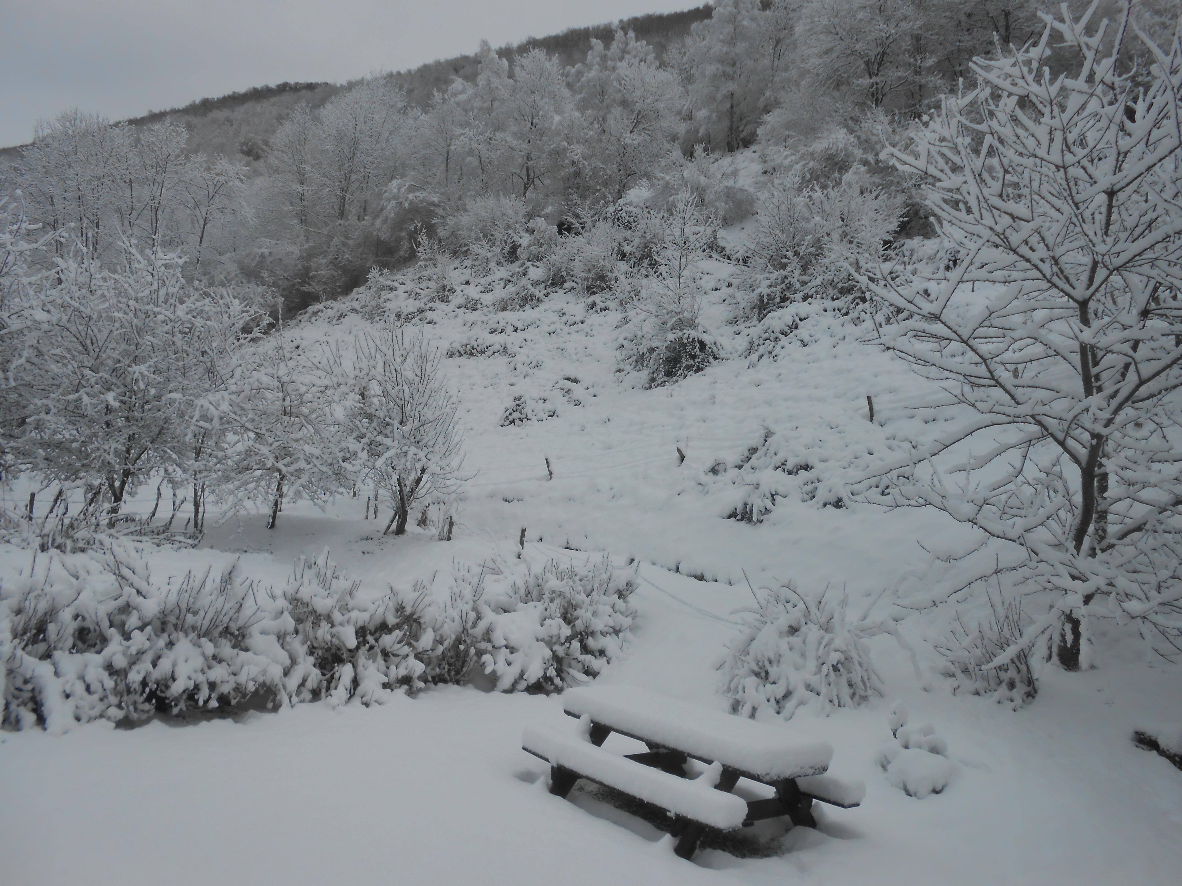Neige à Biac en décembre