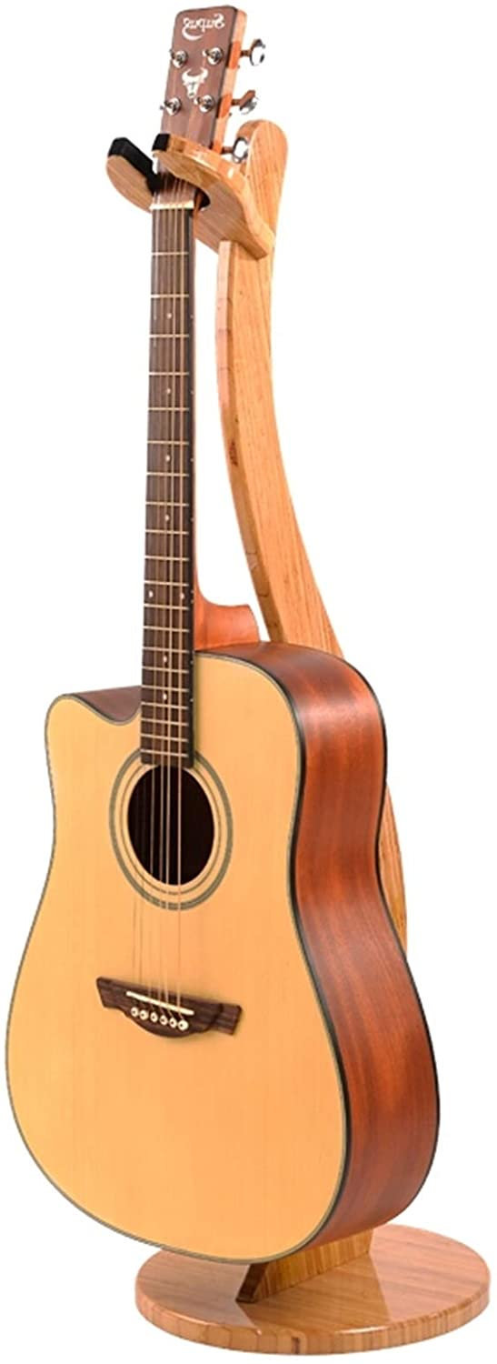 Miwayer Guitar Stand-Handcrafted from Real Bamboo Solid Bamboo Floor Stands For Acoustic Electric Guitar,Ukulele Classical Guitar Hook