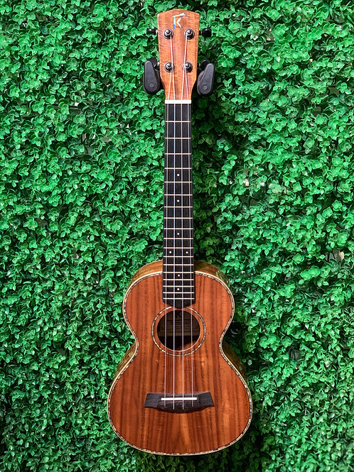 Kamehameha Ukulele KMT-15G EQ Gloss Tenor Acacia wood electric pickup