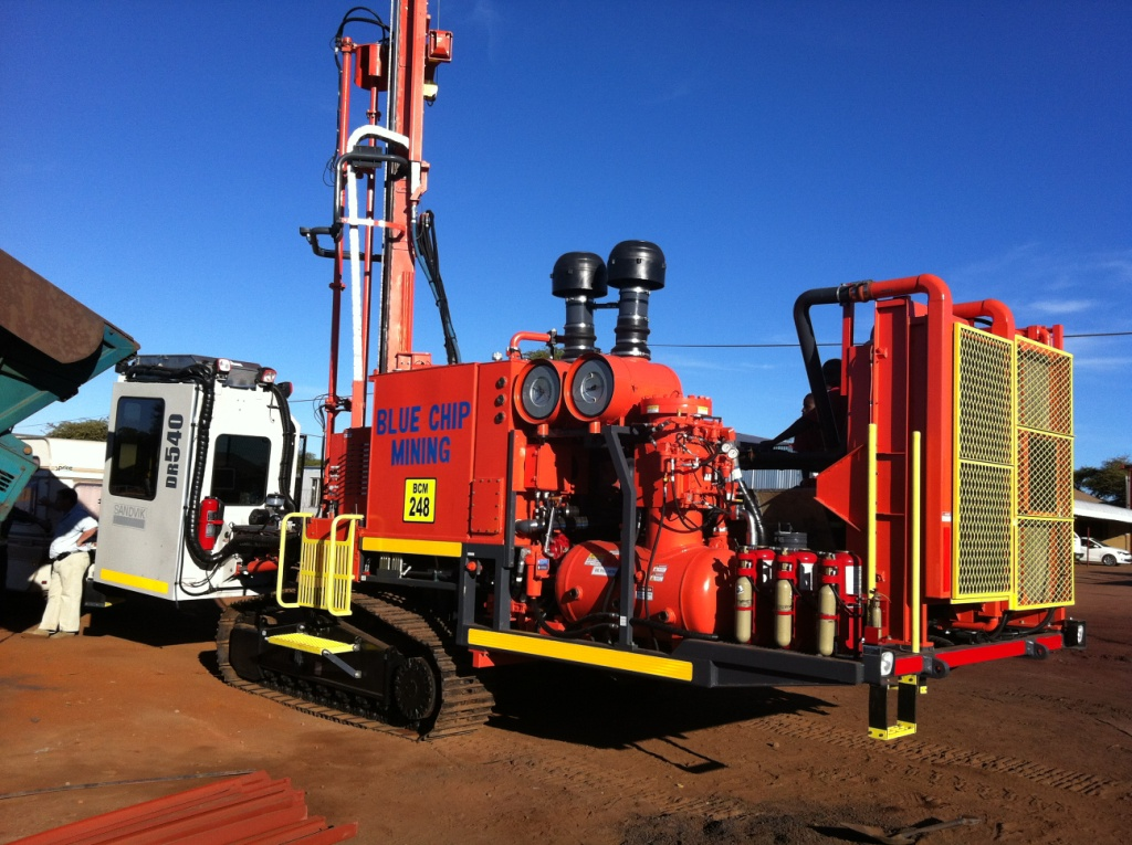 Oil drilling rig - Firetrace propspect in S.Africa