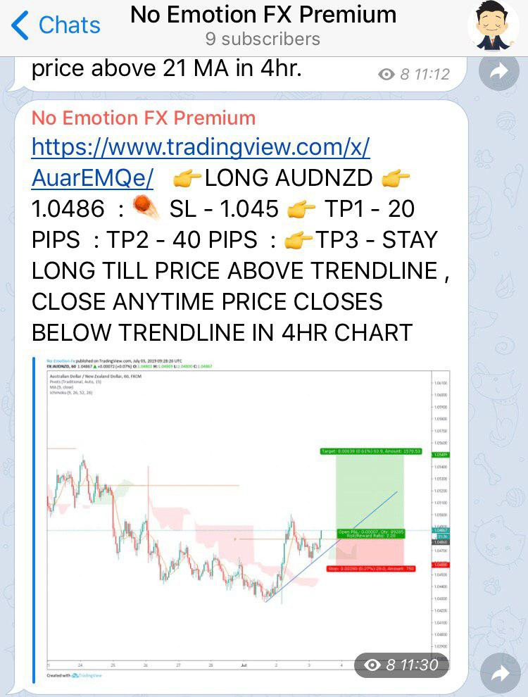 #AUDNZD  #FOREX LONG TRADE SETUP SENT ON 3 JUL PREMIUM CHANNEL