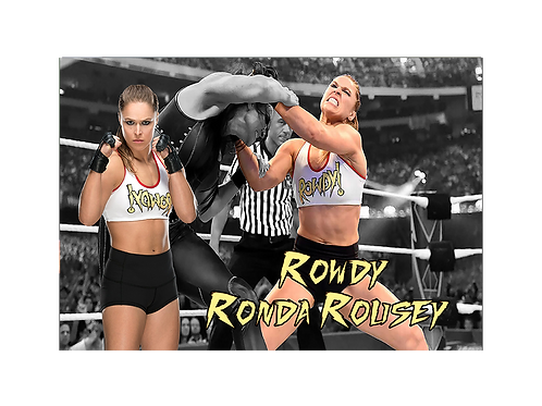 Rhonda Rousey (In Action)
