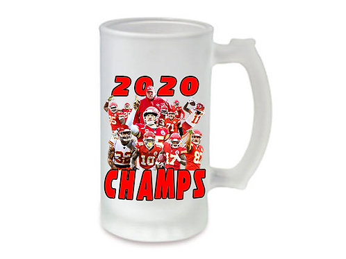 KC Chiefs 16oz Frosted Beer Mug