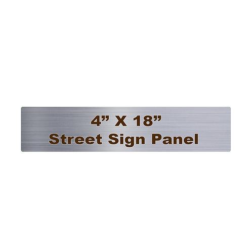 "4"" x 18"" Rounded Corner Aluminum Street Sign"