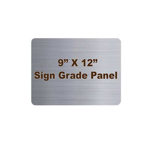 "9"" x 12"" Sign Grade Rounded Corner Aluminum Panel"