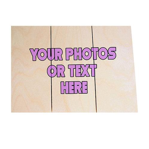 "(12"" x 16"") 3 Panel Wood Plank Sign"