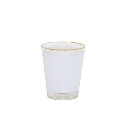 Clear 1.5oz Shot Glass /w Gold Rim