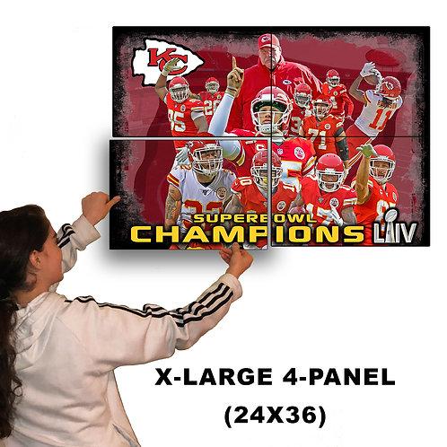 Kansas City Chiefs World Champions (X-Large Aluminum Poster 24-36)