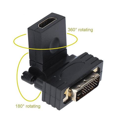 DVI-D zu HDMI Drehbarer Adapter