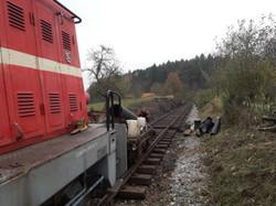 První vlak v km 6.5