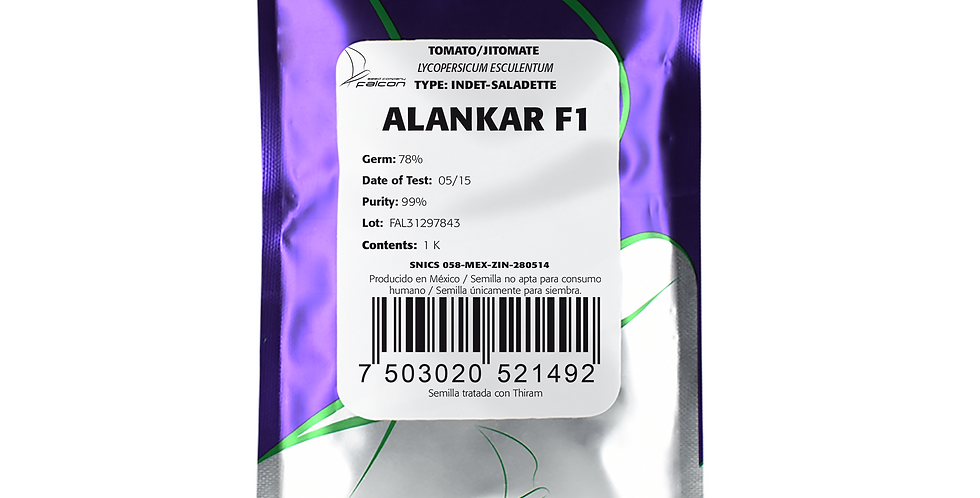 Tomate Híbrido Indeterminado Alankar F1