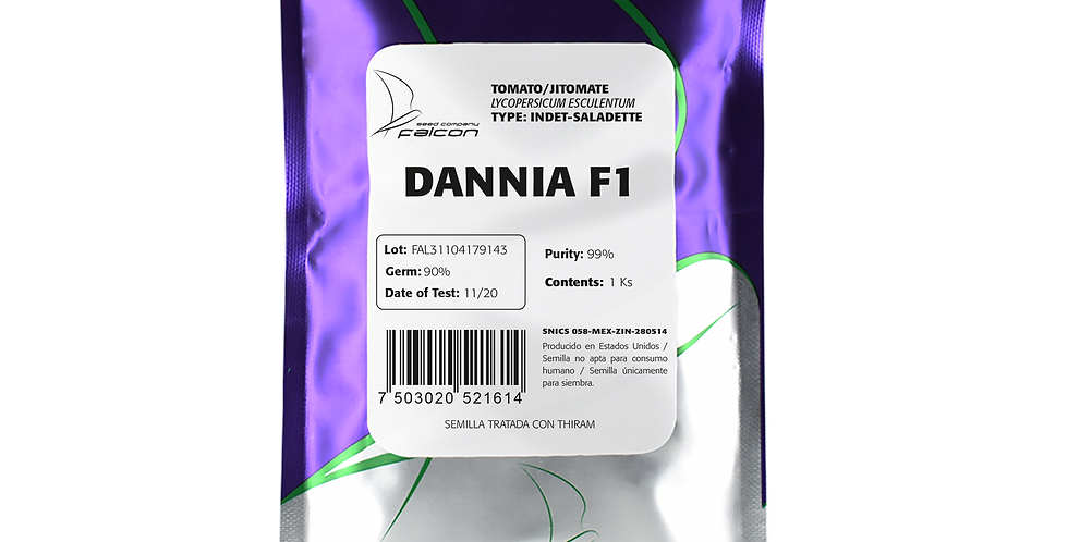 Tomate Híbrido Indeterminado Dannia F1