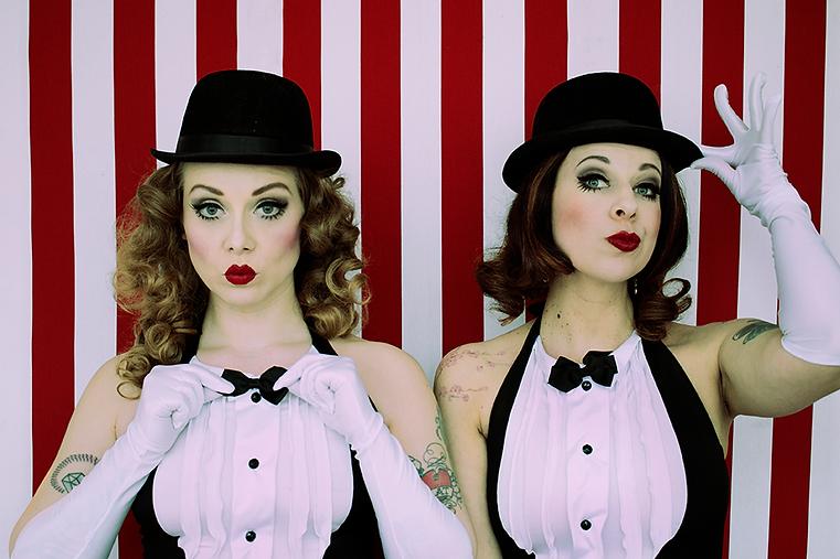 The Ravishing Shangri-La Rubies -a funny stylish burlesque duo