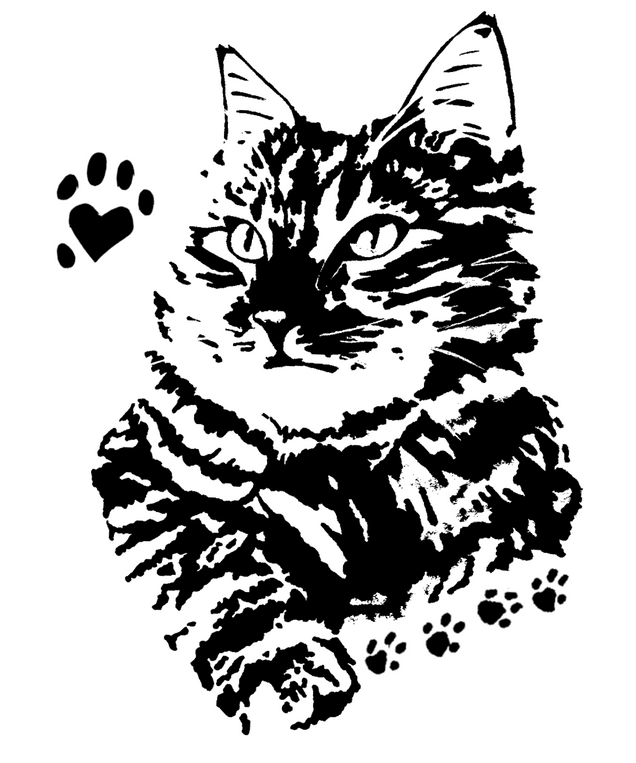 CatPortraitRawPawInk.png